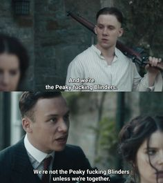 john and micheal shelby Peaky Blinders Series, Peaky Blinders Quotes, Cillian Murphy Peaky Blinders, Movie Memes, Movie Facts, Movie Tv, Boardwalk Empire, Joe Cole, Finn Cole