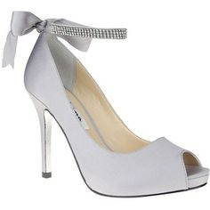 4e688b6466f9f Women s Nina Karen Satin Pumps Silver 7 Silver Bridesmaid Shoes