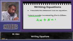 Writing Equations | Skubes
