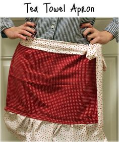 Bridgey Widgey: Tea Towel Apron