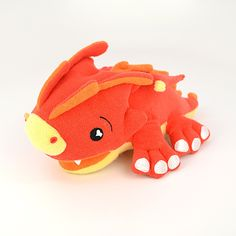 Scorch the Dragon - Scorch the Dragon is not only a soft, cuddly play animal for your child, but he's also a sponge to make bath-time fun-time!