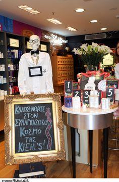 Mr Bones at the new Kiehl's corner at Hondos Center Kifisia