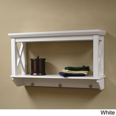 @Overstock.com - X-Frame Bathroom Wall Shelf - This X-Frame bathroom wall shelf is perfect for additional shelf space and can be used in the bathroom or any other room in the house.  Its modern, clean X-frame design adds instant appeal to any decor.    http://www.overstock.com/Home-Garden/X-Frame-Bathroom-Wall-Shelf/8316202/product.html?CID=214117 $56.99