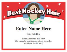 Hockey certificates templates hockey certificate and team slogans great collection of hockey certificates that you can personalize with players name coachs name highlights etc yelopaper Choice Image