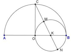 Golden Ratio With Two Unequal Circles And a Line