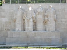 The Reformation Wall Monument in Geneva Switzerland - Apostles Creed Christian Reformation, Apostles Creed, Geneva Switzerland, Change The World, Austria, Wall, Painting, Painting Art, Paintings