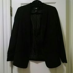 Black jacket Classic black jacket, perfect for work or going out. Worn once, it looks like new. H&M Jackets & Coats Blazers