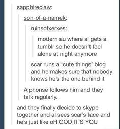 I don't even know why I like this so much... Probably the mental image of Scar and Al tumblring...