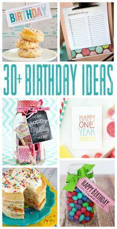 Thirty Fun Birthday Ideas