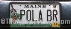 License plate spotted near Bowdoin College. Go U Bears!