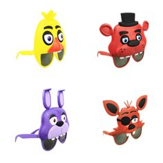 Cheap figure toy, Buy Quality toy figure directly from China fnaf figure Suppliers: 4Styles Five Nights At Freddy's mask Freddy Chica Foxy Bear glasses party Latex Mask cosplay Figure Toy FNAF Toy Adult gift