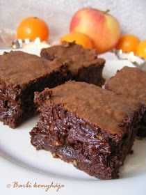 Barbi konyhája: A legcsokisabb Brownie Cookie Recipes, Dessert Recipes, Snacks Dishes, Salty Snacks, Food Cakes, Winter Food, Creative Food, Sweet Recipes, Brownies