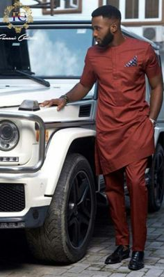 Worry no more my man! Because we've got the most Stylish Wedding Suit Styles For Nigerian Men which you could choose from the best naija men wedding suits styles of African Wear Styles For Men, African Shirts For Men, Ankara Styles For Men, African Dresses Men, African Attire For Men, African Clothing For Men, Latest African Fashion Dresses, African Men Fashion, Africa Fashion