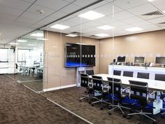 From Glass At Work: Single Glazed Frameless Glass Office Partitioning