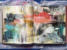 in a little while - journal spread - by bun // artist: roxanne coble