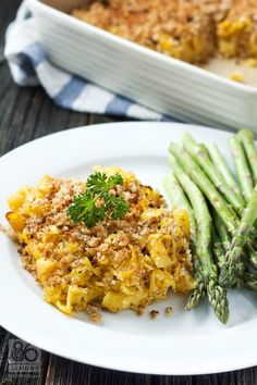 Baked Macaroni & Cheese #vegan #glutenfree #healthy 86lemons.com