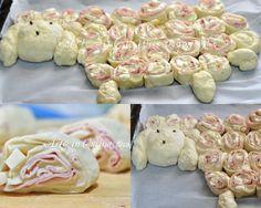 Pan brioche farcito con prosciutto e formaggio - Agnello ripieno ricetta antipasto | Arte in Cucina