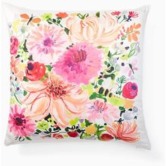 Kate Spade Dahlia Pillow (115 CAD) ❤ liked on Polyvore featuring jewelry, pillows, floral jewellery, kate spade jewelry, kate spade and floral jewelry