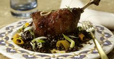 The best Glazed Duck Leg On A Bed Of Lentils recipe you will ever find. Welcome to RecipesPlus, your premier destination for delicious and dreamy food inspiration. Roasting Tins, Green Lentils, Lentil Recipes, Serving Plates, Food Inspiration, Steak, Food And Drink, Cooking Recipes, Tasty