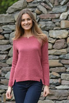 Happy Kinda Life - You heard it here first: our Alyssa sweater is the ideal look for everyday outings. Crafted in a textured cotton mix, this round neck jumper with stylish rolled hems will take you anywhere. 2 stylish colours to choose from.