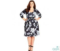 Designer plus size swing dresses designed and manufactured by leading manufacturing houses are lightweight, casual, and summery and come in contemporary design formats.