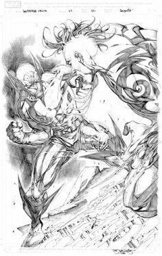 Wolverine Origins #27 p.22 Splash Page by Stephen Segovia Comic Art