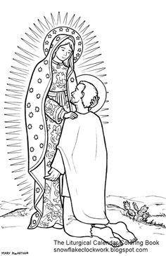 Our Lady of Guadalupe Catholic Coloring Page