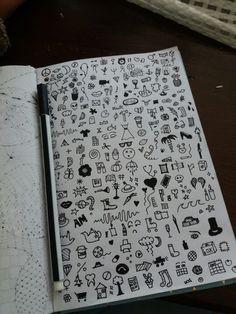 Doodle Mini Drawings, Doodle Drawings, Art Drawings Sketches, Easy Drawings, Notebook Drawing, Notebook Doodles, Doodle Art Journals, Hand Doodles, Simple Doodles