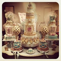Marie Antoinette and Rococo Wedding Cakes by Cake Opera Co