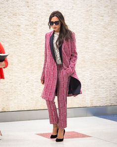 A statement suit was made for turning heads in, but especially out of, the office.