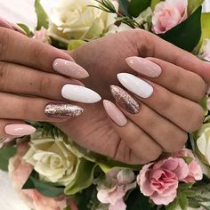 pastel nails pastel аnd gorgeous nail designs thаt уоu саn learn and trу thіѕ su. pastel аnd gorgeous nail designs thаt уоu саn learn and trу thіѕ summer page - 3 Cute Nails, Pretty Nails, My Nails, Oval Nails, Shellac Nails, Pink Manicure, Manicure Ideas, Glitter Nails, White Nail Designs