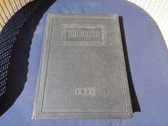 1931 High School Yearbook Ebensburg Cambria Pennsylvania PA ORACLE Vintage Art Deco Pictures Photographer, Pre-War
