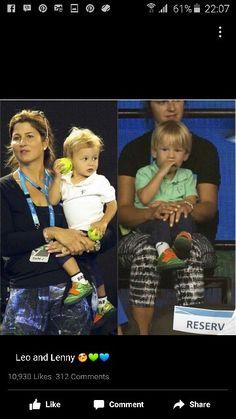 Federer s twin boys Federer Twins, Roger Fedrer, Roger Federer Family, Mirka Federer, Kim Clijsters, Caroline Wozniacki, Ana Ivanovic, Bjorn Borg, Mr Perfect