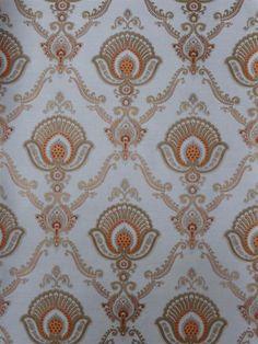 orange brown fine damask wallpaper - Funky Walls - Dé webshop voor vintage en modern behang