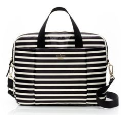 kate spade new york Kate Spade Classic Nylon Stripe Commuter Laptop... (600 BRL) ❤ liked on Polyvore featuring accessories, tech accessories and kate spade