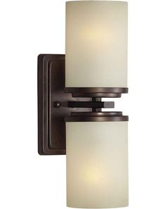 Visit The Home Depot To Buy Illumine 2 Light Wall Sconce Antique Bronze Finish Umber Linen Glass