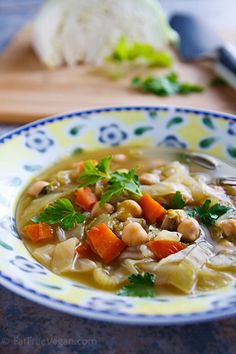 """One of my daughter E's favorite soups is a """"Chick'n"""" Noodle Soup that starts with Imagine's No-Chicken broth and includes, besides pasta, either Soy Curls o"""