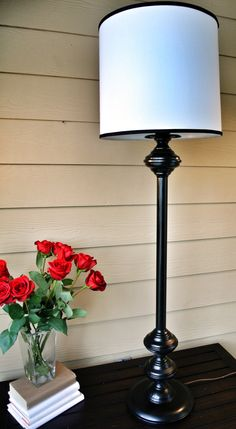 Hollywood Regency Style Black Floor Lamp