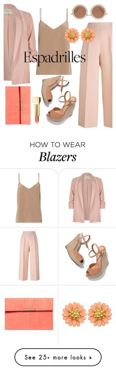 """Step Into Summer: Espadrilles"" by blackadonia on Polyvore featuring River Island, Schutz, House of Holland, Fendi, L'Agence, Dorothy Perkins, PUR and espadrilles"