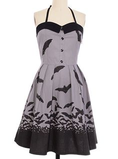 Bats In The Night Dress $54.00. Just bought this dress for Halloween.  AT vintagedancer.com  #halloween
