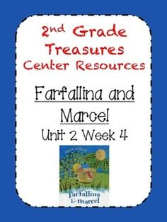 These centers align with Treasures Unit Week Includes: 8 centers sheets/ideas Center List for plan book Student To-Do list Center Menu Check out my Treasures Center Resources in my TPT shop for center management ideas. Treasures Reading, Center Management, Guided Reading, Story Ideas, Marcel, Second Grade, Language Arts, School Stuff, School Ideas