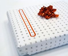 universal word-search wrapping paper. find your holiday/occasion. too cool.