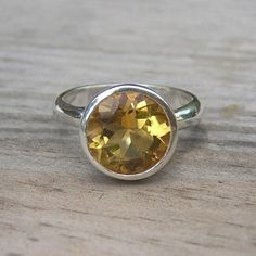Citrine Gemstone Ring in Reycled Sterling SIlver Ring  $168 from www.etsy.com (onegarnetgirl)