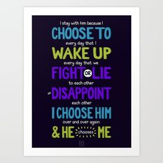 I Choose To Art Print