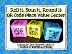 26 best place value 4nbt1 4 images on pinterest teaching roll it scan it round it qr code place value center 4 fandeluxe Image collections