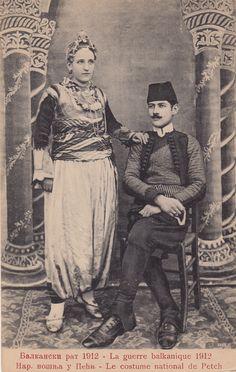 Serbian folk costume from Pec (Metohija  , Southern Serbia )
