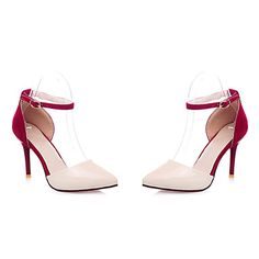 Women's Shoes  Stiletto Heel Heels/Gladiator Pumps/Heels Office & Career/Dress/Casual Black/Blue/Red – USD $ 22.54