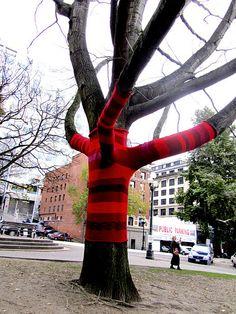 yarn bombing Seattle