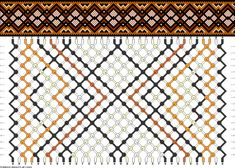 Muster # 44868, Streicher: 34 Zeilen: 18 Farben: 6