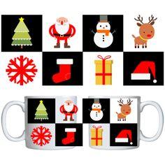 Estampa para caneca Comemorativa Natal 000705 - Customize Transfer